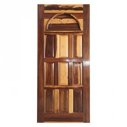 Nine Panel With Wooden Internal Arch Engraved