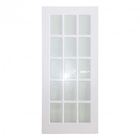 Full French Clear Glass white Finish