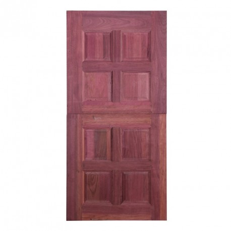 Kitchen Door 2 pcs Purple Heart 4 Panel