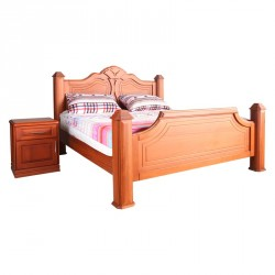 Toshao King Size (Bed Side Cupboard Natural Finish Locust