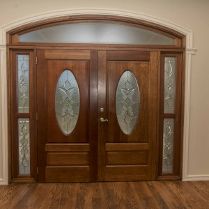 Double Entrance Doors with Tempered Glass