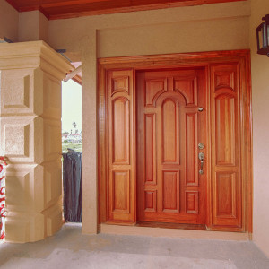 Single Cathedral Door with side-lights